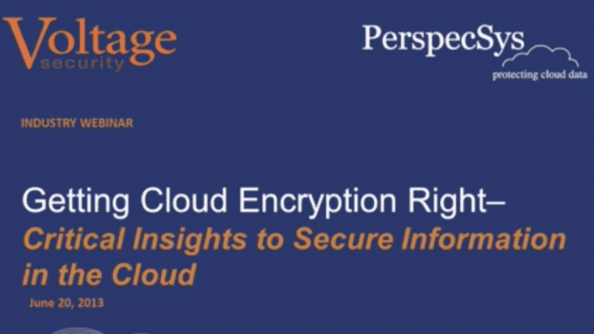 Getting Cloud Encryption Right