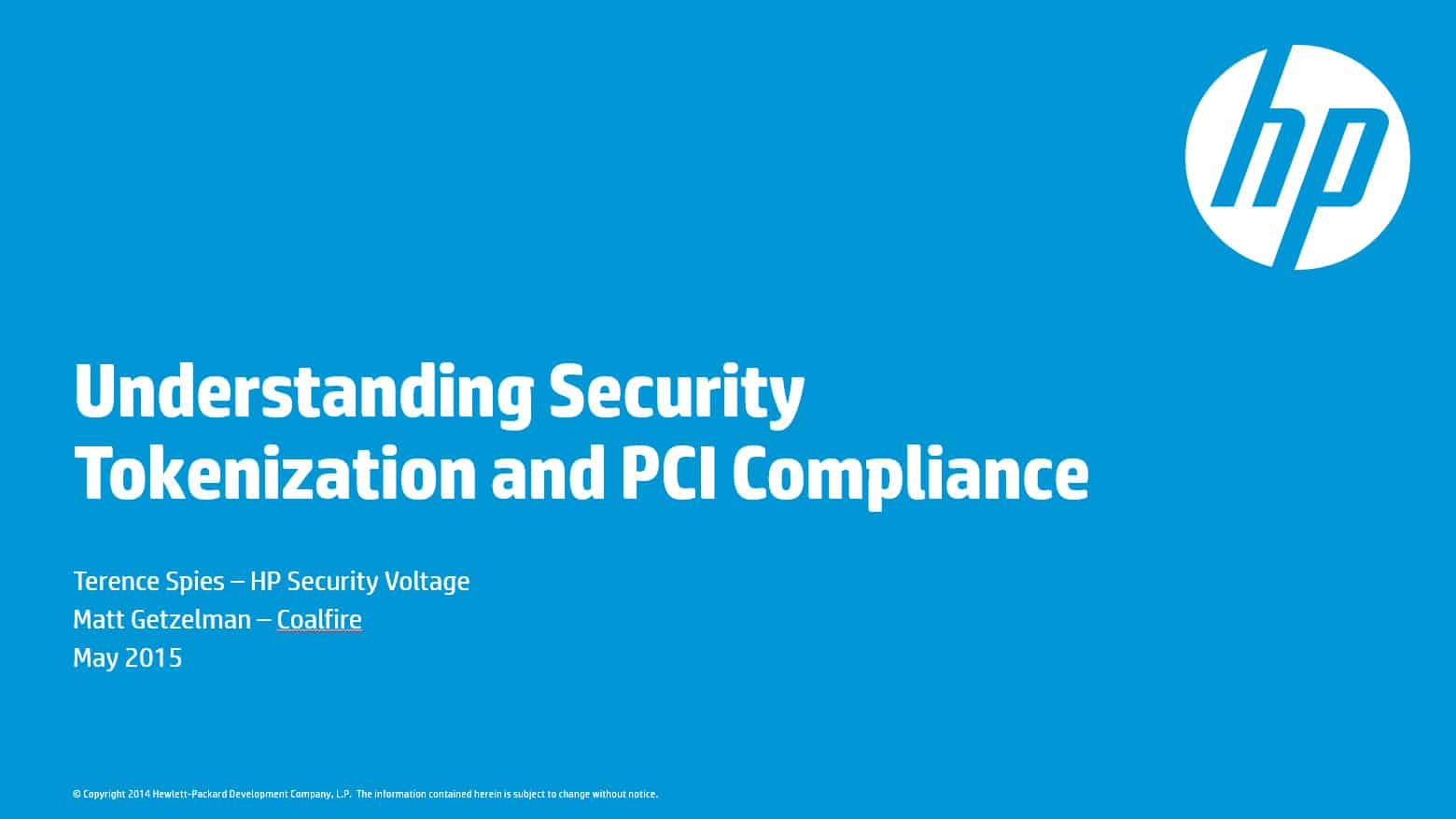 2015-05-20 TMCnet Webcast 3 PCI Tokenization