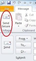 Outlook Send Secure Button