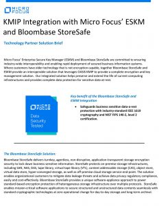 KMIP Integration with Micro Focus' ESKM and Bloombase StoreSafe