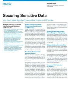 Securing Sensitive Data