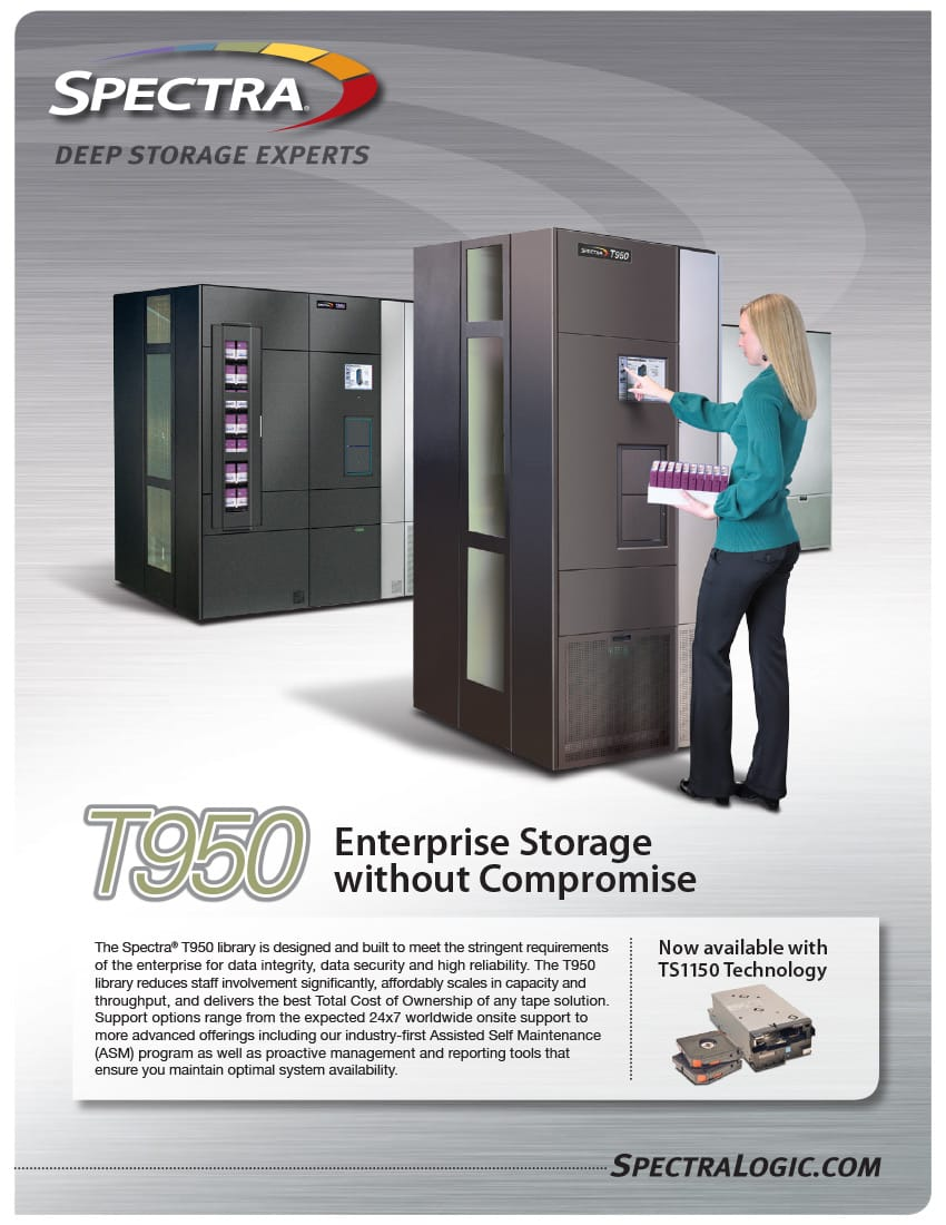 Spectra Logic T950 Brochure cover